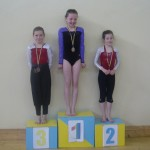 Kaleigh Flannery who won first place in U10 girls gymnastic she goes on to represent Co. Tipperary in the national finals in Athlone in August